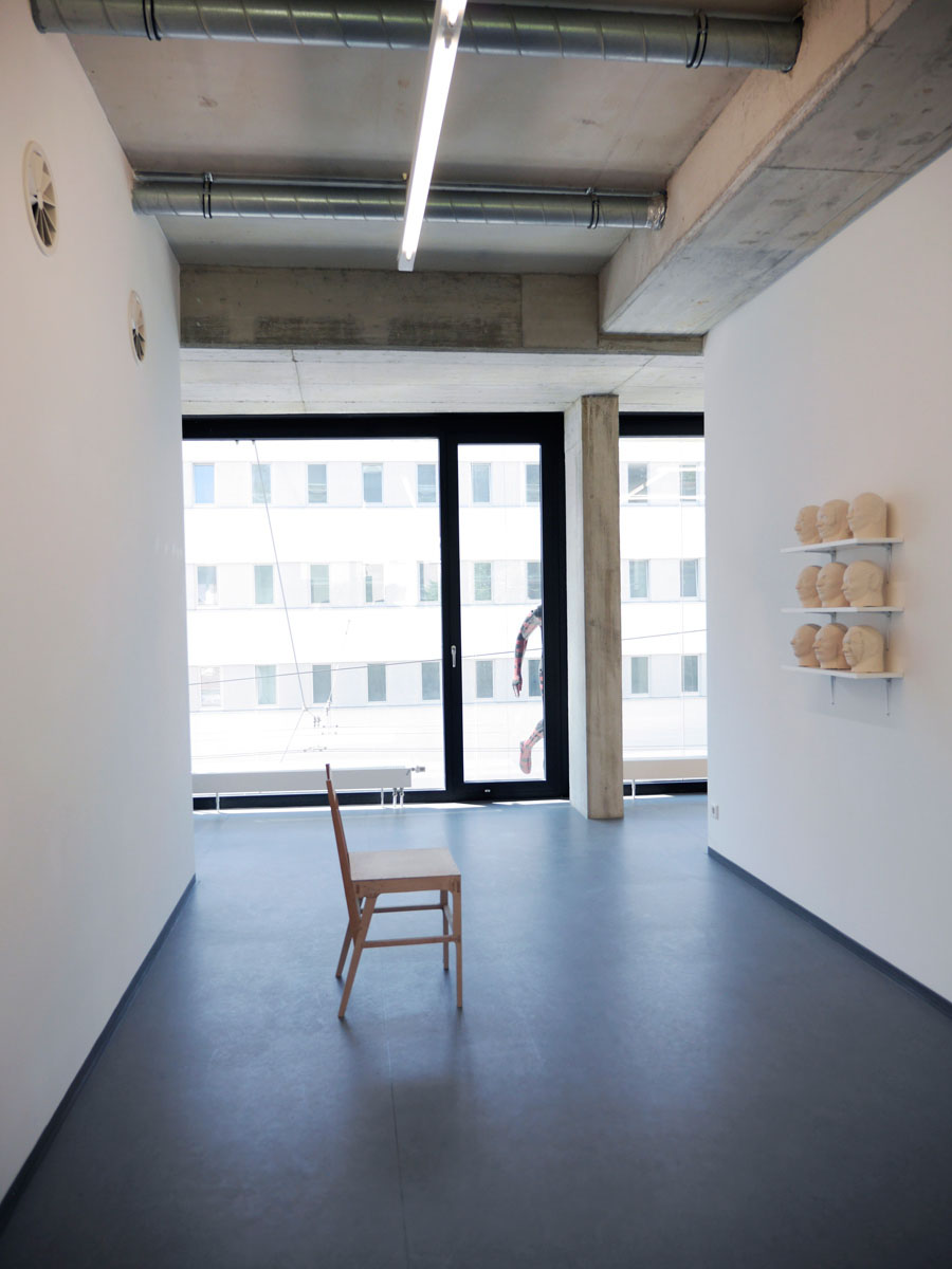 "Köpfe (2015), exhibition view ""Rebuilding"" (2015)"